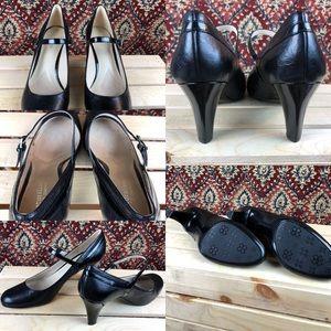Naturalizer Shoes - Naturalizer N5 Comfort Black Heels w/ Strap